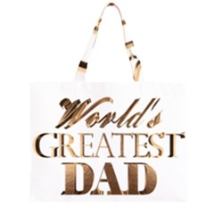World s Greatest Dad Gold Look Text Elegant Typography Large Tote Bag