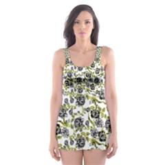 Roses pattern Skater Dress Swimsuit