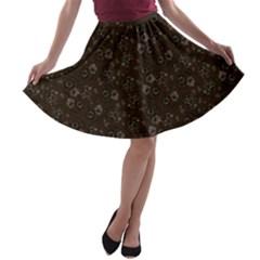 Roses pattern A-line Skater Skirt
