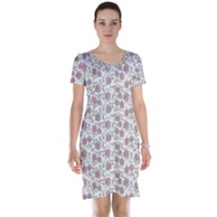 Roses pattern Short Sleeve Nightdress