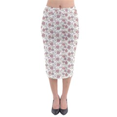 Roses pattern Midi Pencil Skirt