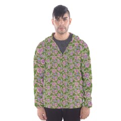 Roses pattern Hooded Wind Breaker (Men)