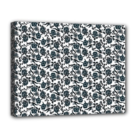 Roses pattern Canvas 14  x 11