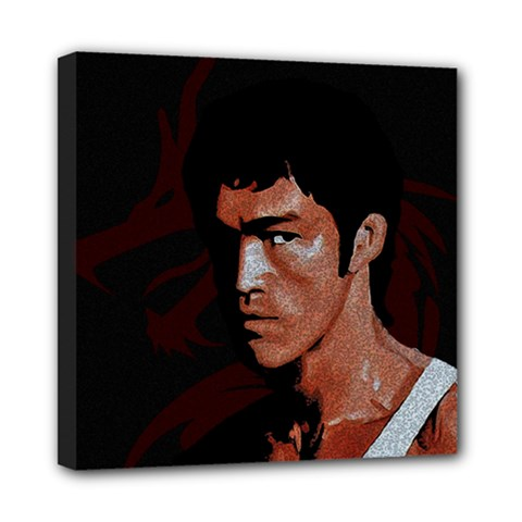 Bruce Lee Mini Canvas 8  x 8