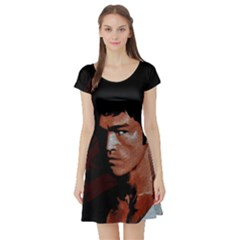 Bruce Lee Short Sleeve Skater Dress