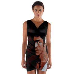 Bruce Lee Wrap Front Bodycon Dress