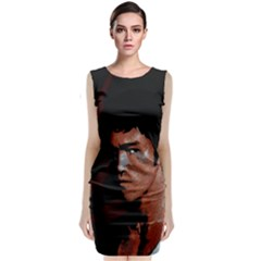 Bruce Lee Sleeveless Velvet Midi Dress