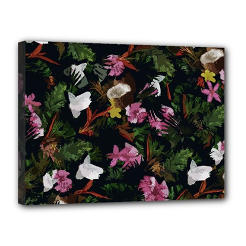 Tropical pattern Canvas 16  x 12