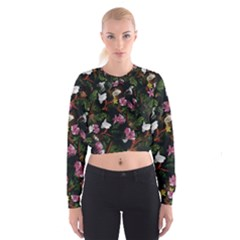 Tropical pattern Cropped Sweatshirt
