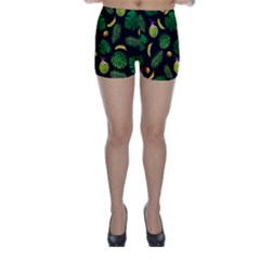 Tropical pattern Skinny Shorts