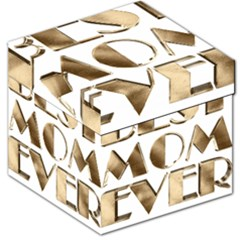 Best Mom Ever Gold Look Elegant Typography Storage Stool 12