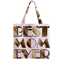 Best Mom Ever Gold Look Elegant Typography Grocery Tote Bag