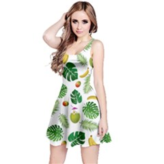 Tropical pattern Reversible Sleeveless Dress