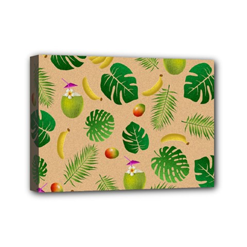 Tropical pattern Mini Canvas 7  x 5