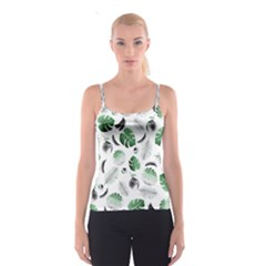 Tropical pattern Spaghetti Strap Top