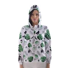 Tropical pattern Hooded Wind Breaker (Women)