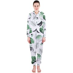 Tropical pattern Hooded Jumpsuit (Ladies)