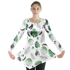 Tropical pattern Long Sleeve Tunic