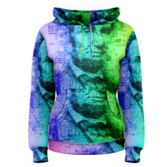 Abraham Lincoln Portrait Rainbow Colors Typography Women s Pullover Hoodie