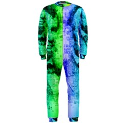 Abraham Lincoln Portrait Rainbow Colors Typography OnePiece Jumpsuit (Men)