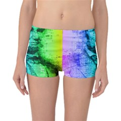 Abraham Lincoln Portrait Rainbow Colors Typography Boyleg Bikini Bottoms