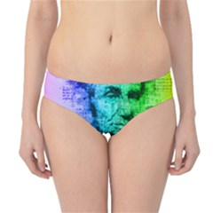 Abraham Lincoln Portrait Rainbow Colors Typography Hipster Bikini Bottoms