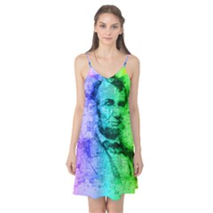 Abraham Lincoln Portrait Rainbow Colors Typography Camis Nightgown