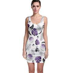 Tropical pattern Sleeveless Bodycon Dress