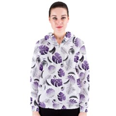 Tropical pattern Women s Zipper Hoodie