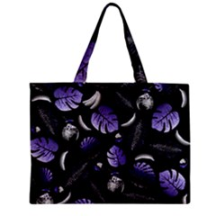 Tropical pattern Zipper Mini Tote Bag