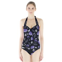 Tropical pattern Halter Swimsuit