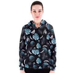 Tropical pattern Women s Zipper Hoodie