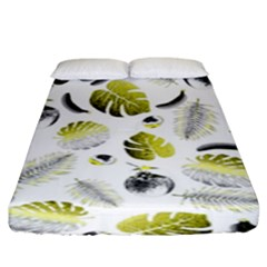 Tropical pattern Fitted Sheet (King Size)