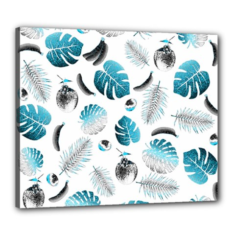 Tropical pattern Canvas 24  x 20