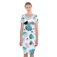 Tropical pattern Classic Short Sleeve Midi Dress