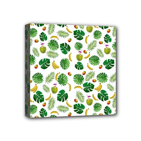 Tropical pattern Mini Canvas 4  x 4