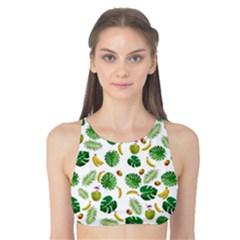Tropical pattern Tank Bikini Top