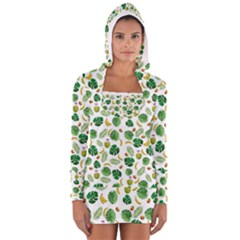 Tropical pattern Women s Long Sleeve Hooded T-shirt
