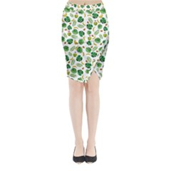 Tropical pattern Midi Wrap Pencil Skirt