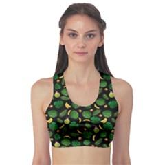 Tropical Pattern Sports Bra