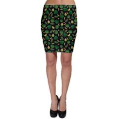 Tropical pattern Bodycon Skirt