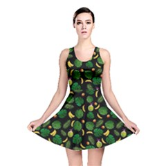 Tropical pattern Reversible Skater Dress