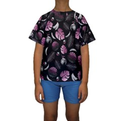 Tropical pattern Kids  Short Sleeve Swimwear