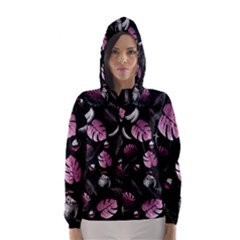 Tropical pattern Hooded Wind Breaker (Women)