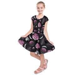 Tropical Pattern Kids  Short Sleeve Dress