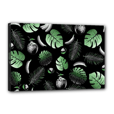 Tropical pattern Canvas 18  x 12