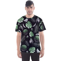 Tropical pattern Men s Sport Mesh Tee