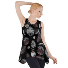 Tropical pattern Side Drop Tank Tunic