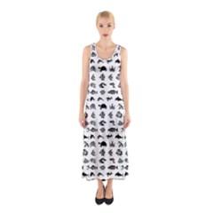 Fish pattern Sleeveless Maxi Dress