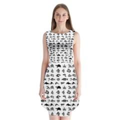 Fish pattern Sleeveless Chiffon Dress